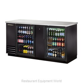 True TBB-3G-LD Back Bar Cabinet, Refrigerated