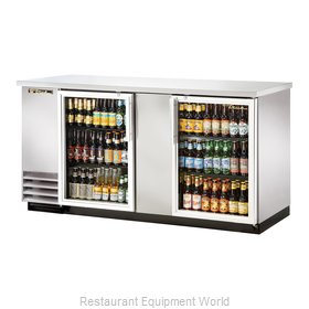 True TBB-3G-S-LD Back Bar Cabinet, Refrigerated