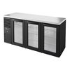 True TBR72-RISZ1-L-B-GGG-1 Back Bar Cabinet, Refrigerated