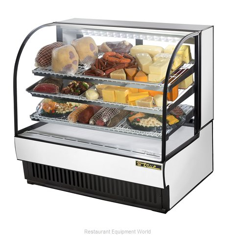 True TCGR-50 Curved Glass Bakery Case