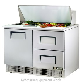 True TFP-48-18M-D-2 Refrigerated Counter, Mega Top Sandwich / Salad Unit