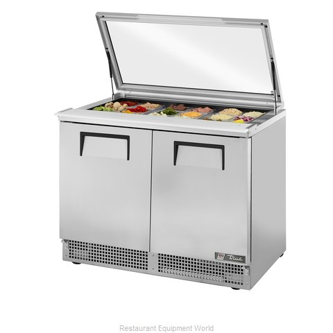 True TFP-48-18M-FGLID Refrigerated Counter, Mega Top Sandwich / Salad Unit