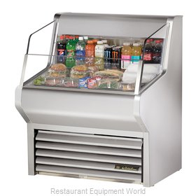 True THAC-36-S Horizontal Air Curtain Merchandiser