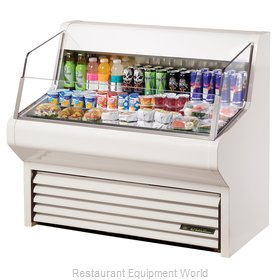 True THAC-48 Horizontal Air Curtain Merchandiser