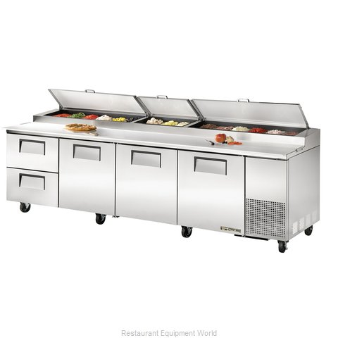 True TPP-119D-2 Pizza Prep Table Refrigerated