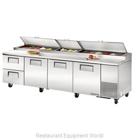 True TPP-119D-2 Refrigerated Counter, Pizza Prep Table