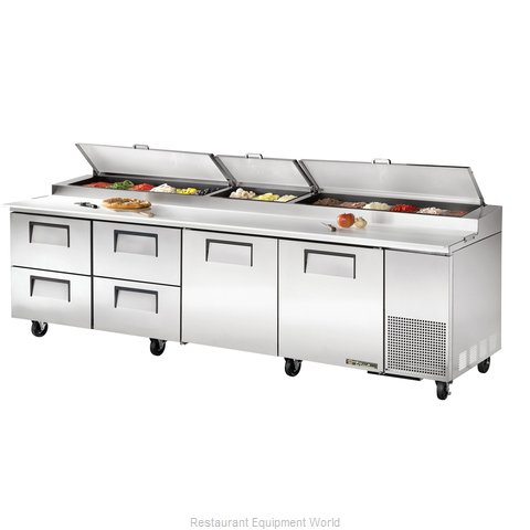 True TPP-119D-4 Refrigerated Counter, Pizza Prep Table