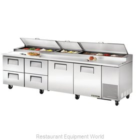 True TPP-119D-4 Pizza Prep Table Refrigerated