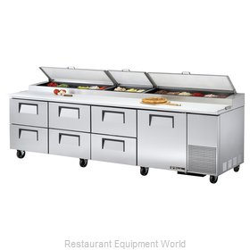 True TPP-119D-6 Pizza Prep Table Refrigerated