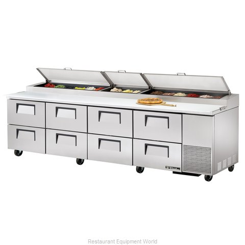 True TPP-119D-8 Pizza Prep Table Refrigerated
