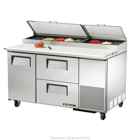 True TPP-60D-2 Refrigerated Counter, Pizza Prep Table