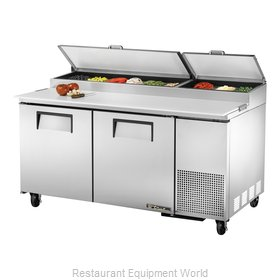 True TPP-67 Refrigerated Counter, Pizza Prep Table