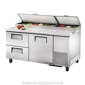 True TPP-67D-2 Refrigerated Counter, Pizza Prep Table