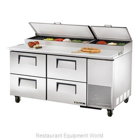 True TPP-67D-4 Refrigerated Counter, Pizza Prep Table