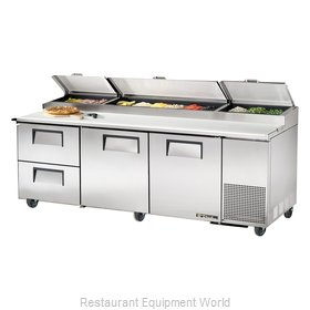 True TPP-93D-2 Pizza Prep Table Refrigerated