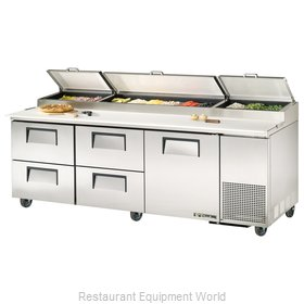 True TPP-93D-4 Pizza Prep Table Refrigerated