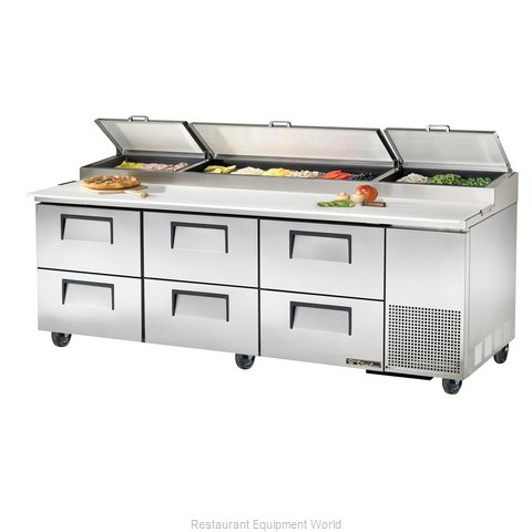 True TPP-93D-6 Refrigerated Counter, Pizza Prep Table