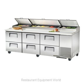 True TPP-93D-6 Pizza Prep Table