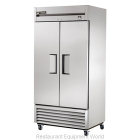True TS-35F 35 Cu Ft Stainless Steel Solid Door Reach-In Freezer