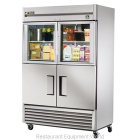 True TS-49-2-G-2 Reach-in Refrigerator 2 sections