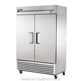 True TS-49F 49 Cu Ft Stainless Steel Solid Door Reach-In Freezer