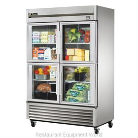 True TS-49G-4 Reach-in Refrigerator 2 sections