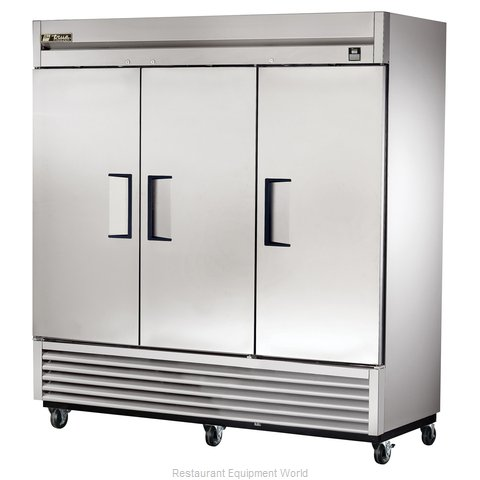 True TS-72F 72 Cu Ft Stainless Steel Solid Door Reach-In Freezer