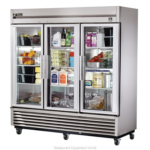 True TS-72G-LD Reach-in Refrigerator 3 sections