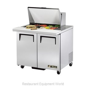 True TSSU-36-12M-B Refrigerated Counter, Mega Top Sandwich / Salad Unit