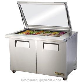 True TSSU-48-18M-B-FGLID-HC Refrigerated Counter, Mega Top Sandwich / Salad Unit