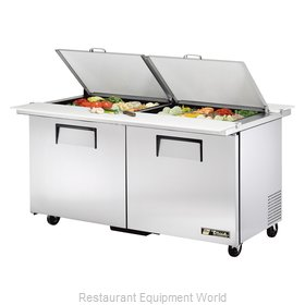 True TSSU-60-24M-B-DS-ST-HC Refrigerated Counter, Mega Top Sandwich / Salad Unit