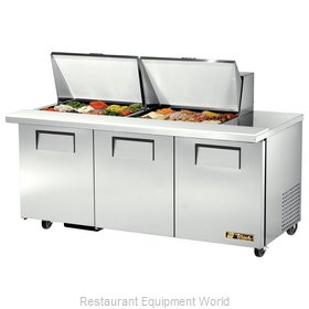 True TSSU-72-24M-B-ST Mega Top Sandwich Unit
