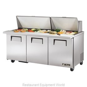 True TSSU-72-30M-B-ST Mega Top Sandwich/Salad Unit