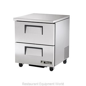 True TUC-27F-D-2 Reach-In Undercounter Freezer 1 section