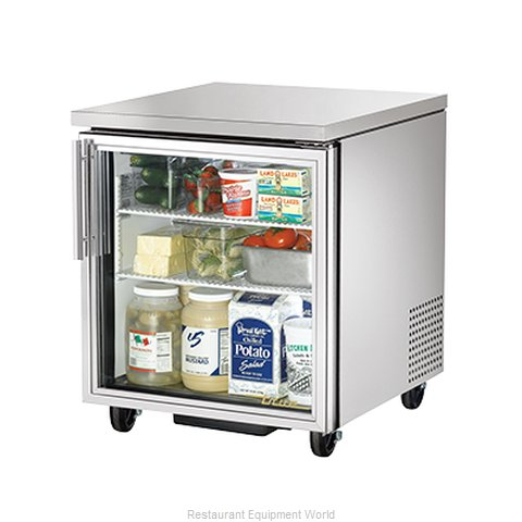 True TUC-27G Reach-in Undercounter Refrigerator 1 section