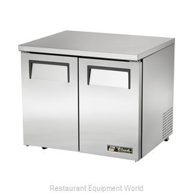 True TUC-36-LP Reach-in Undercounter Refrigerator 2 section