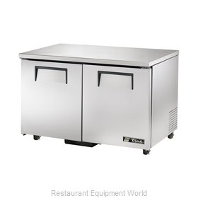 True TUC-48F-ADA Reach-In Undercounter Freezer 2 section