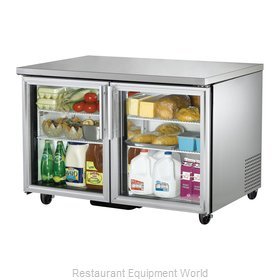 True TUC-48G Reach-in Undercounter Refrigerator 2 section