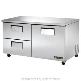 True TUC-60D-2 Reach-in Undercounter Refrigerator 2 section