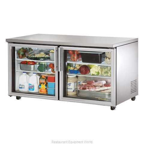 True TUC-60G-ADA Reach-in Undercounter Refrigerator 2 section (Magnified)