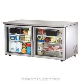True TUC-60G-LP Reach-in Undercounter Refrigerator 2 section
