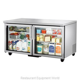 True TUC-60G Reach-in Undercounter Refrigerator 2 section