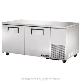 True TUC-67F-HD Reach-In Undercounter Freezer 2 section