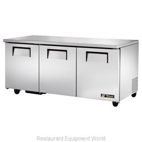 True TUC-72 Refrigerator, Undercounter, Reach-In