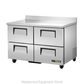 True TWT-48D-4-HC Refrigerated Counter, Work Top