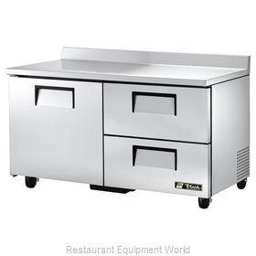 True TWT-60D-2 Refrigerated Counter, Work Top
