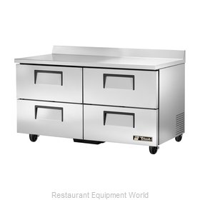 True TWT-60D-4-HC Refrigerated Counter, Work Top