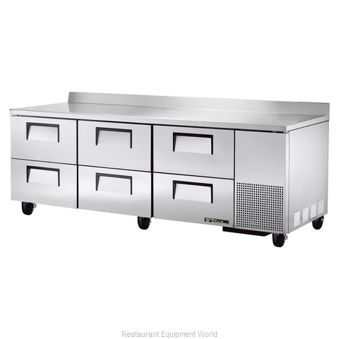 True TWT-93D-6 Refrigerated Counter, Work Top