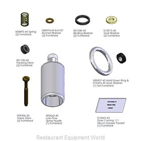 TS Brass B-0107-C-RK Pre-Rinse Faucet, Parts & Accessories