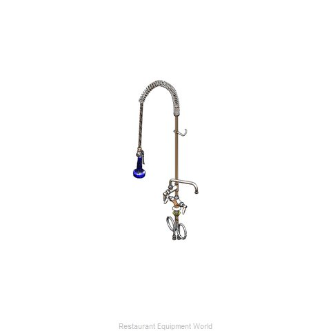 TS Brass B-0113-A06-08 Pre-Rinse Faucet Assembly, with Add On Faucet